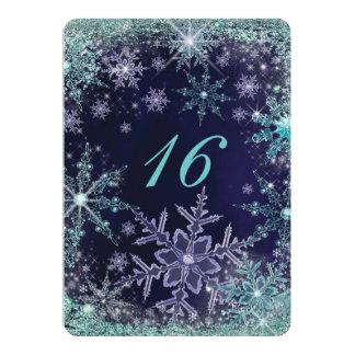 Convites do floco de neve do país das maravilhas