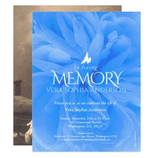 Convites do funeral do rosa do azul da cerimonia