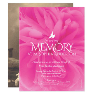 Convites do funeral do rosa do rosa da cerimonia