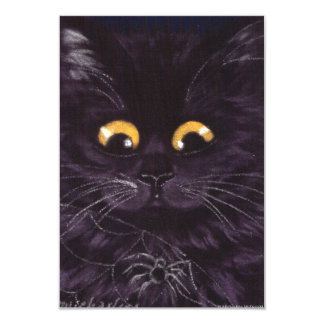 Convites do gato de Scaredy do gato preto do Dia