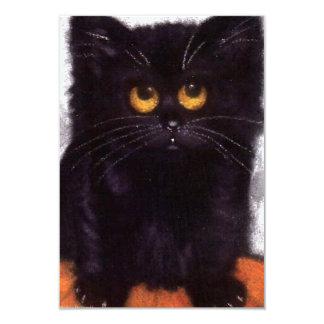 Convites do gato preto do Dia das Bruxas
