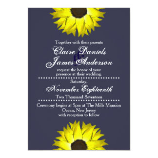 Convites do girassol - casamento/ocasiões