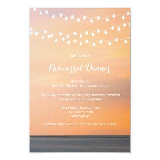 Convites do jantar de ensaio da praia do por do