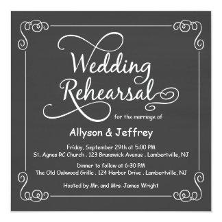Convites do jantar de ensaio do casamento do
