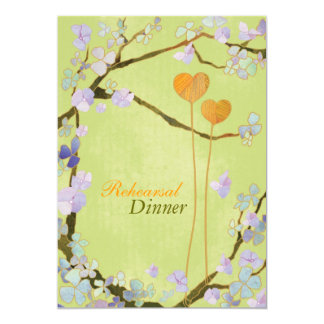 Convites do jantar de ensaio do casamento do verde