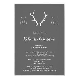 Convites do jantar de ensaio dos antlers do quadro