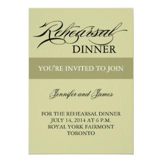 Convites do jantar de ensaio prudentes