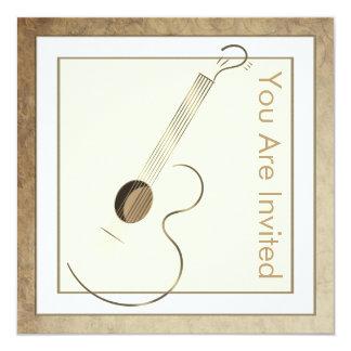 Convites do logotipo da guitarra acústica