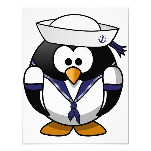 Convites do marinheiro do pinguim