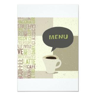 Convites do menu da casa do café