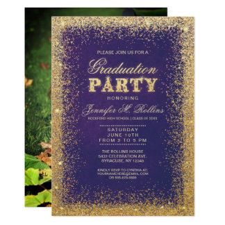 Convites do ouro & da festa de formatura do brilho