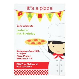 Convites do party girl da pizza