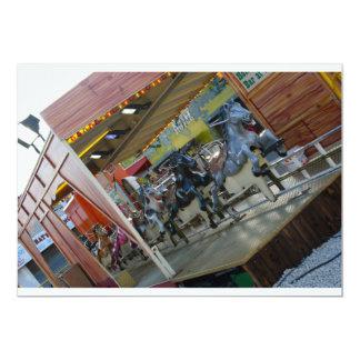 Convites do passeio do cavalo do recinto de convite 12.7 x 17.78cm