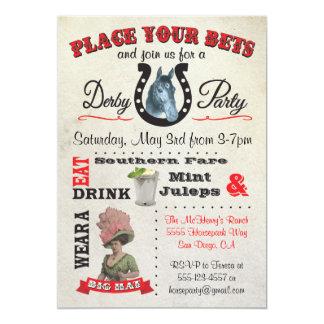 Convites do poster do partido de Derby da corrida