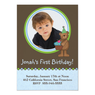 Convites do primeiro aniversario convite 12.7 x 17.78cm