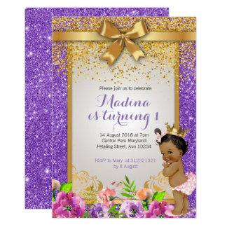 Convites do primeiro aniversario da princesa