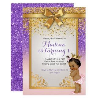 Convites do primeiro aniversario da princesa do