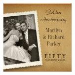 Convites do quadrado da foto do aniversário do vin