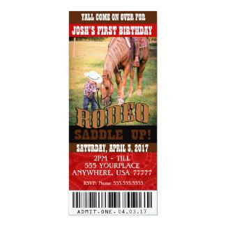Convites do rodeio do vaqueiro, envelopes