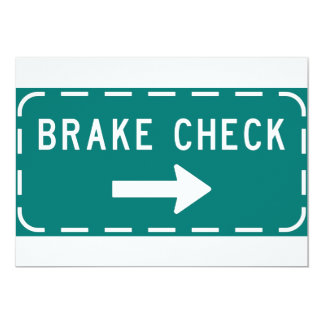 Convites do sinal da verificação do freio