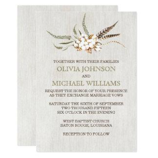 Convites do sul do casamento do algodão