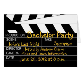 Convites do tema do filme do despedida de solteiro cartão comemorativo
