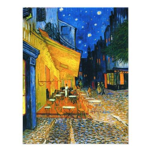 Convites do terraço de Van Gogh Café