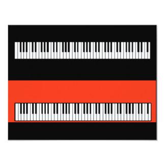 Convites do vazio do piano do teclado das chaves
