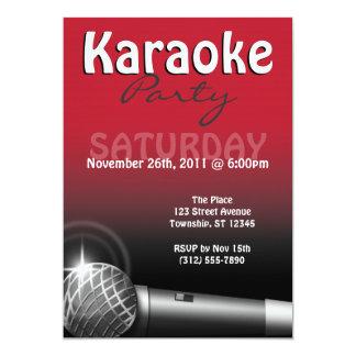 Convites do vermelho do partido do karaoke