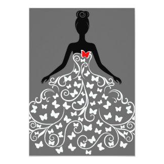 Convites do vestido da borboleta