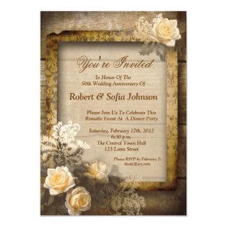 convites do vintage do aniversário de casamento