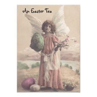 Convites doces do tea party da páscoa do anjo do