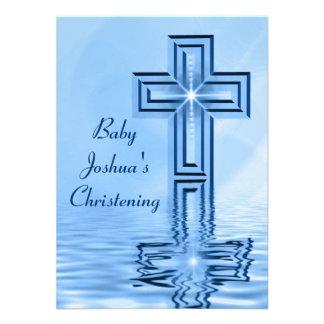 Convites dos azuis bebés do batismo