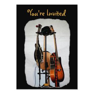 Convites dos instrumentos musicais da guitarra