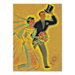 Convites dourados do aniversário do vintage os