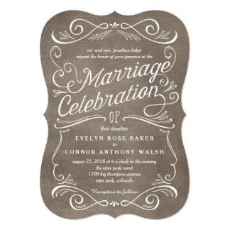 Convites editáveis do casamento da cor dos rolos