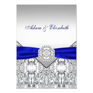 Convites elegantes da prata e do casamento dos