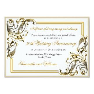Convites elegantes do aniversário de casamento