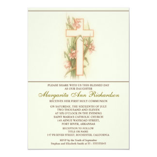 Convites elegantes do batismo do comunhão