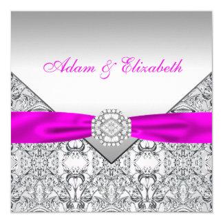 Convites elegantes do casamento da prata e do