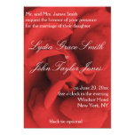 Convites elegantes do casamento das pétalas de