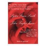 Convites elegantes do casamento das pétalas de ros