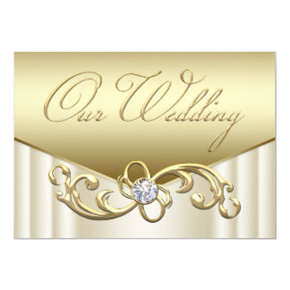 Convites elegantes do casamento do ouro do