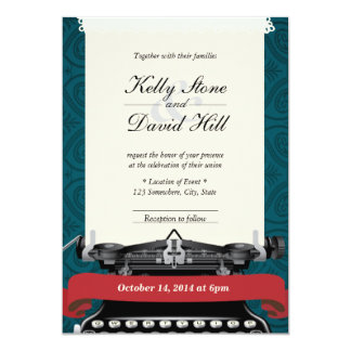 Convites elegantes do casamento tema damasco do convite 12.7 x 17.78cm