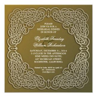 convites elegantes do jantar de ensaio
