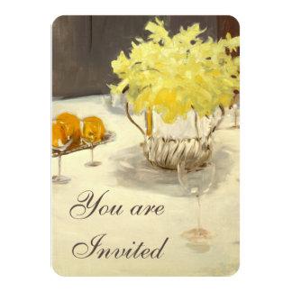 Convites elegantes do jantar de ensaio dos