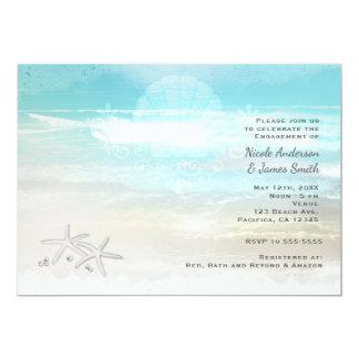 Convites elegantes do verão da estrela do mar