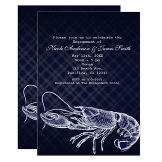 Convites elegantes dos azuis marinhos da lagosta