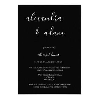 Convites elegantes modernos do jantar de ensaio de