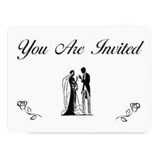 Convites elegantes simples do casamento